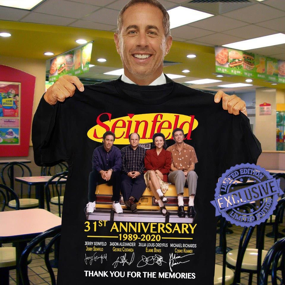 Seinfeld 31st anniversary 1989 2020 thank you for the memories shirt